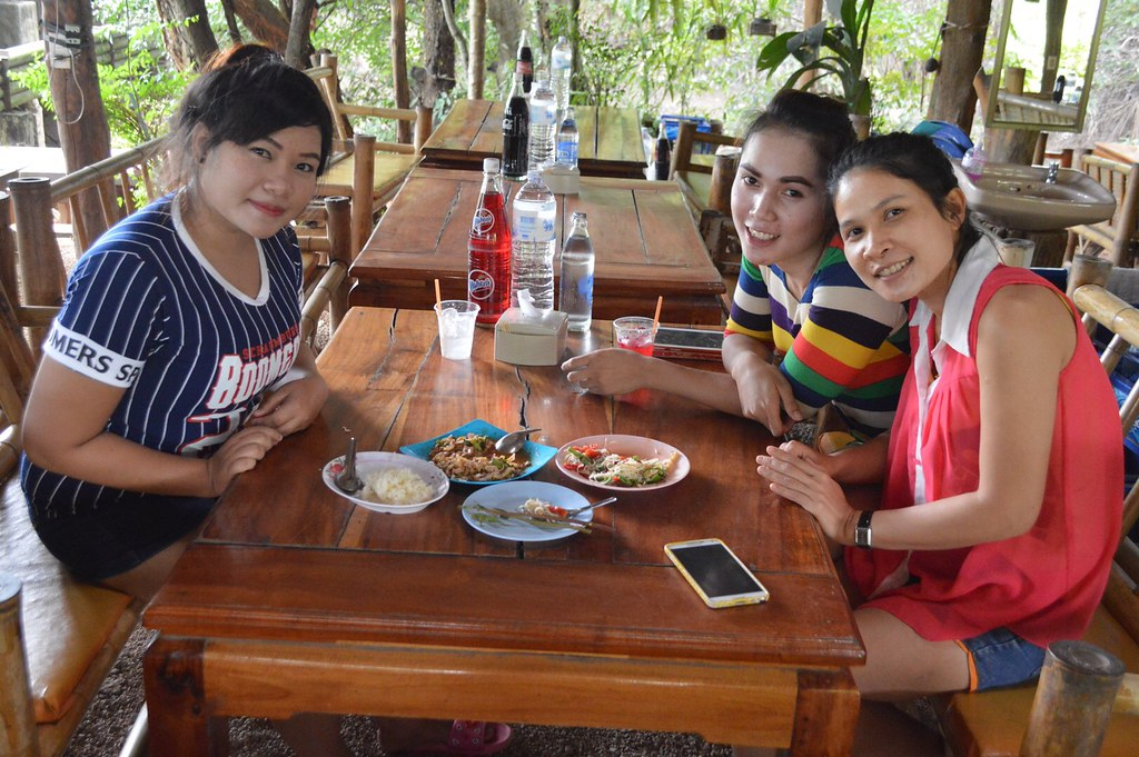 Thai girls in a restaurant
