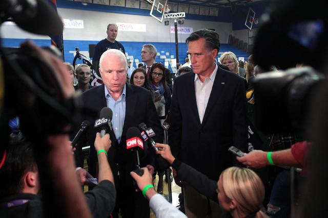 John McCain & Mitt Romney