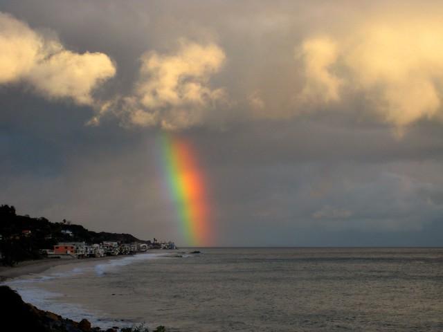 post-rain rainbow