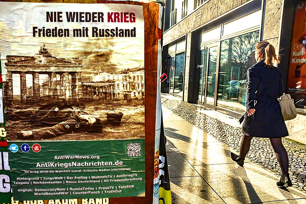 NIE WIEDER KRIEG Frieden mit Russland--Berlin