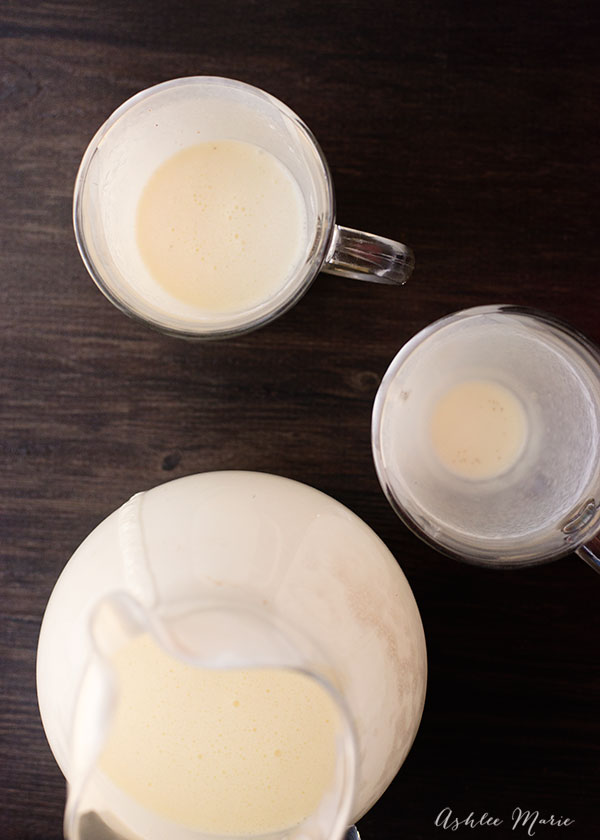 who doesn't love eggnog? and this homemade version is easy to make and tastes amazing