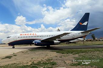 Aerovías DAP Mineral Airways B737-200ADV CC-ABD new livery (Fernando Ruiz)