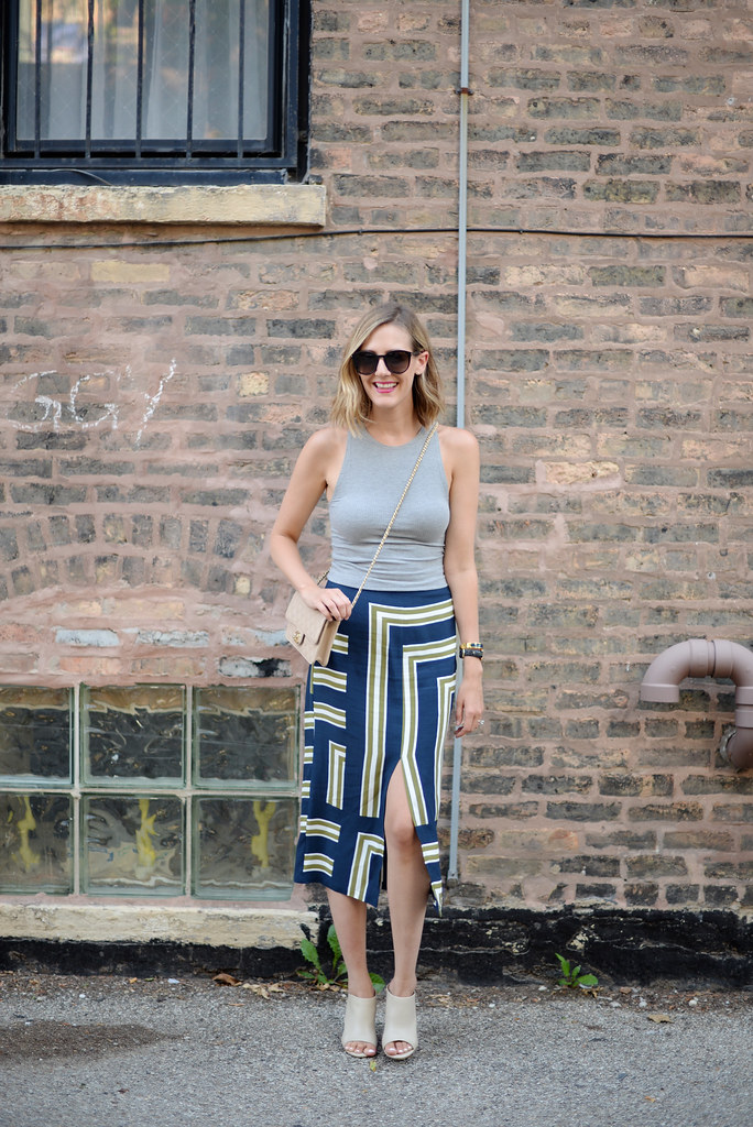 skirt and cropped tank outfit summer