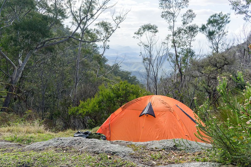 The Old Hut Site looking towards Barney Gorge - Mount Barney National Park