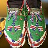 #Sioux shoes with American flags on them #beadwork #americanindian #nativeamerican #moccasins by JJFeh