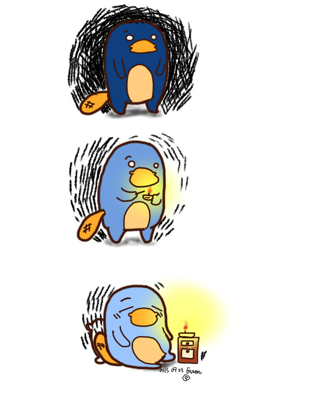 blue platypus