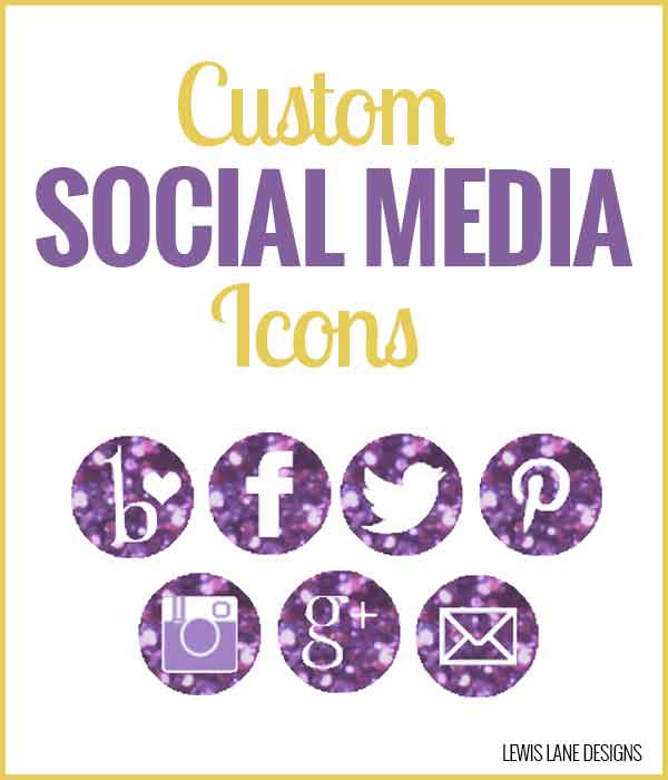 Custom Social Media Icons by Lewis Lane