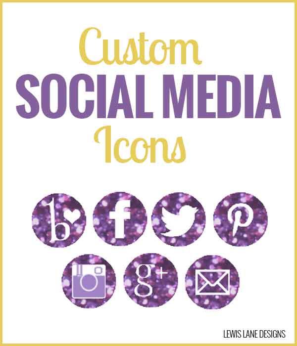 Custom Social Media Icons by Lewis Lane