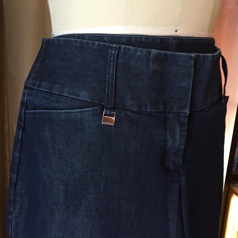 Denim Pencil Skirt - Before