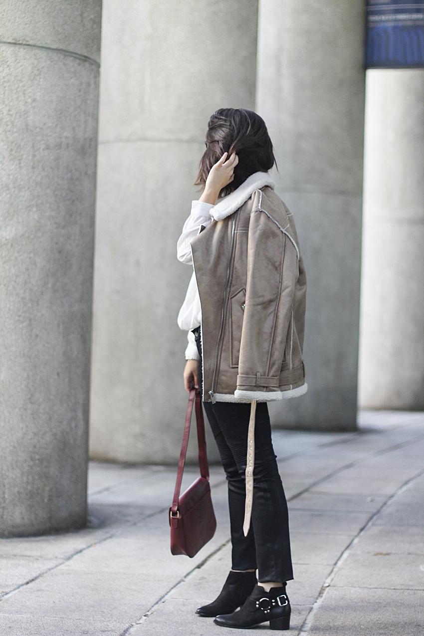 shearling jacket beige winter look la redoute natural elegance myblueberrynightsblog