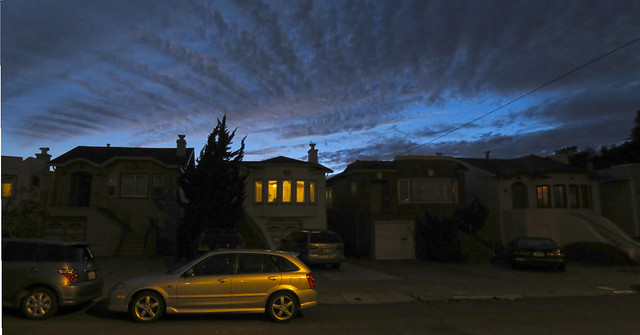 26th avenue between Lincoln and Irving.  The Sunset, San Francisco (2015)