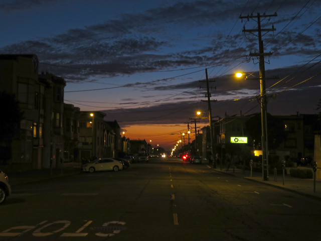 Sunset POV Irving St; The Sunset, San Francisco (2015)