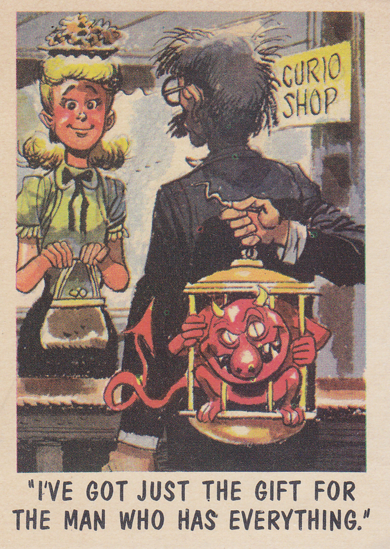 """You'll Die Laughing"" Topps trading cards 1959,  illustrated by Jack Davis (18)"