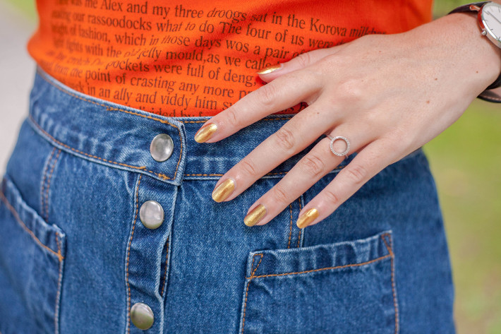 'Precious' gold nail polish bij H&M Beauty