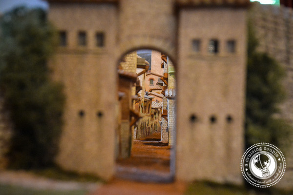 Small Model of castel san gimignano Tuscany