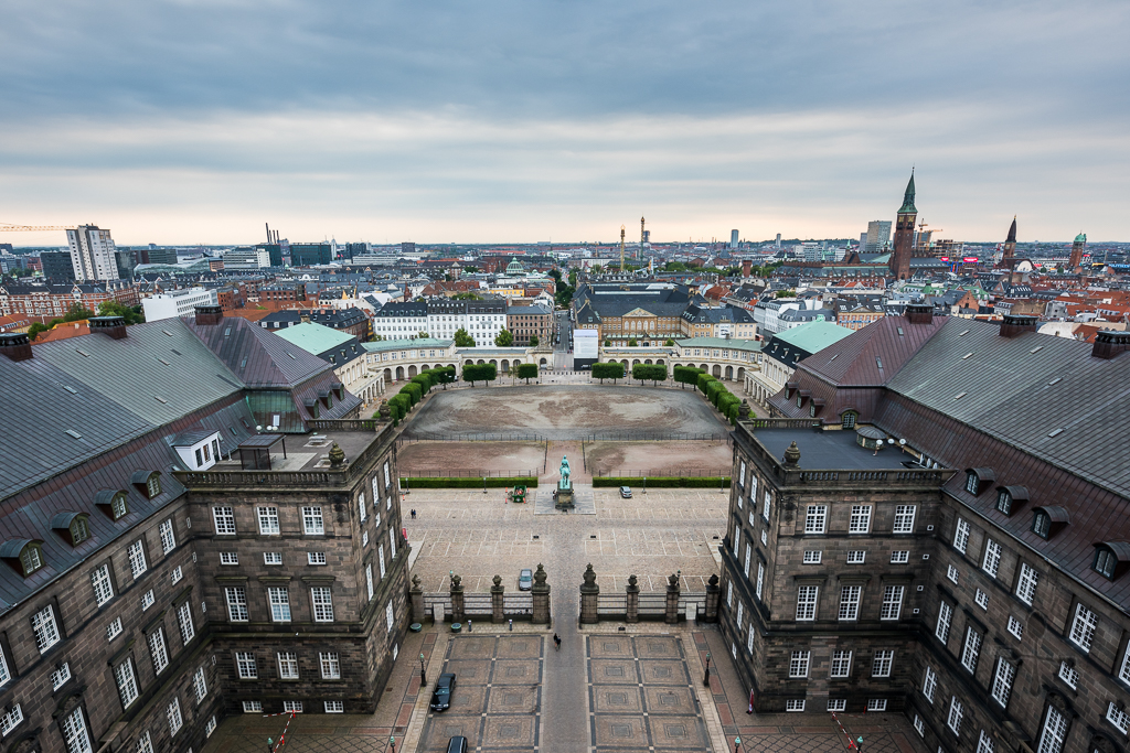 Christiansborg Palace - view from top