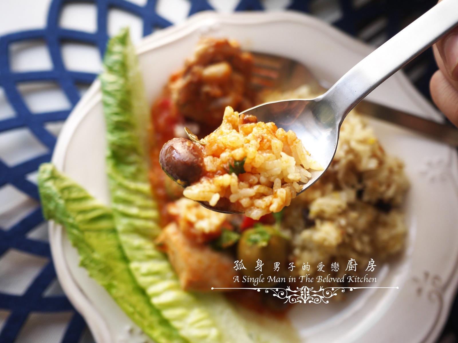 孤身廚房-蕃茄橄欖燴雞肉佐番紅花香米45