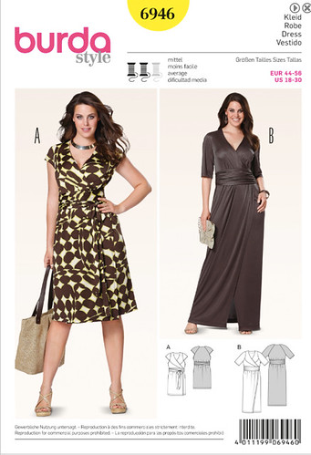 Burda 6946 pattern envelope
