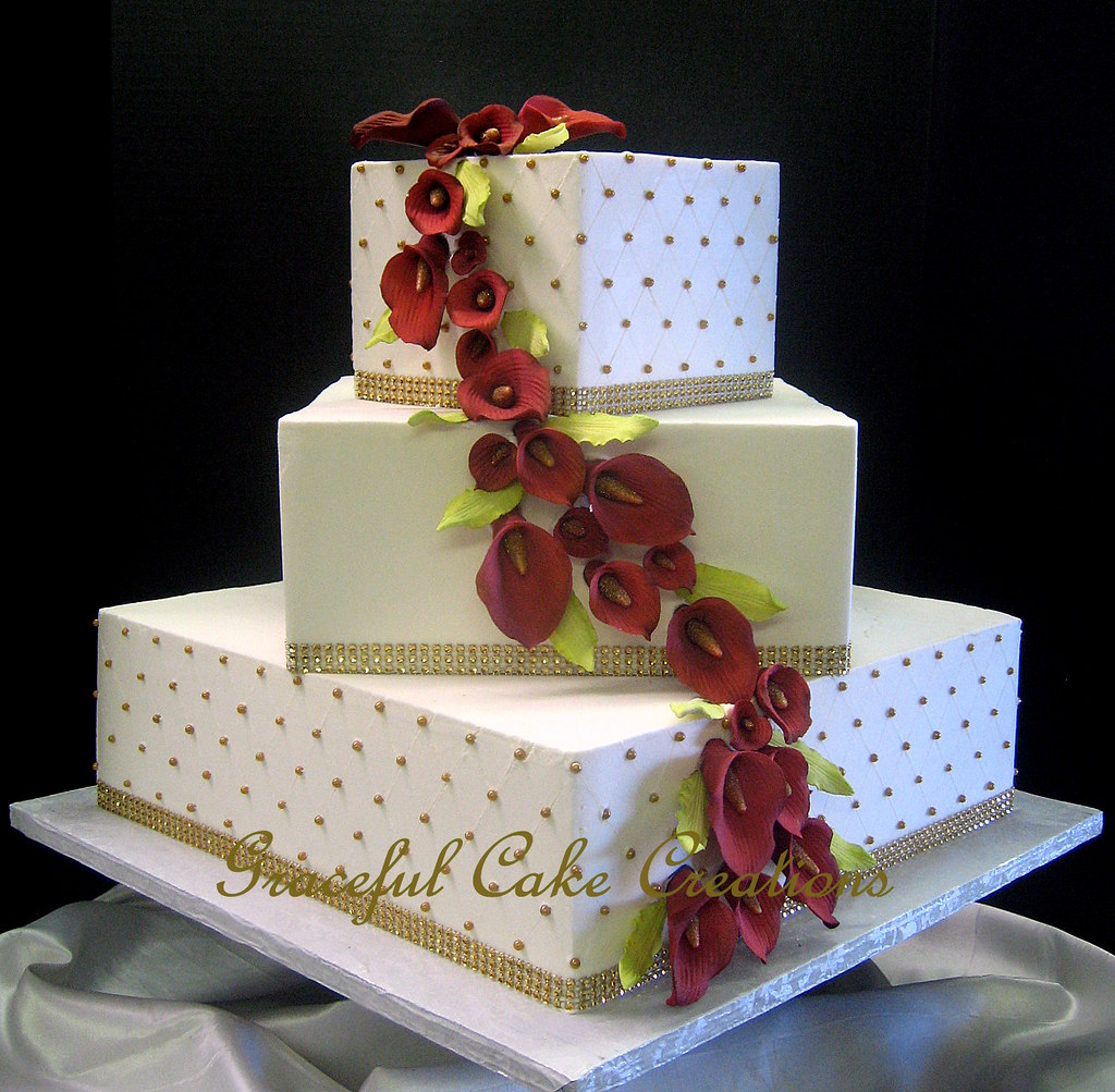 square calla lily wedding cakes graceful cake creations s most recent flickr photos picssr 20357
