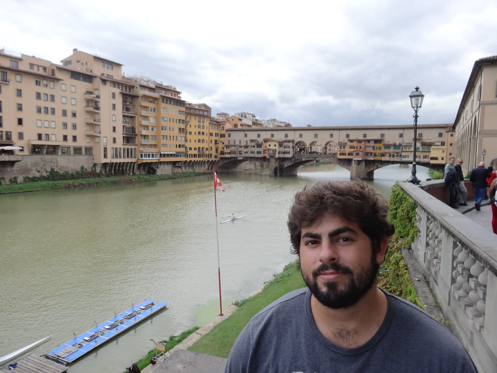 Me in front of Ponte Vecchio