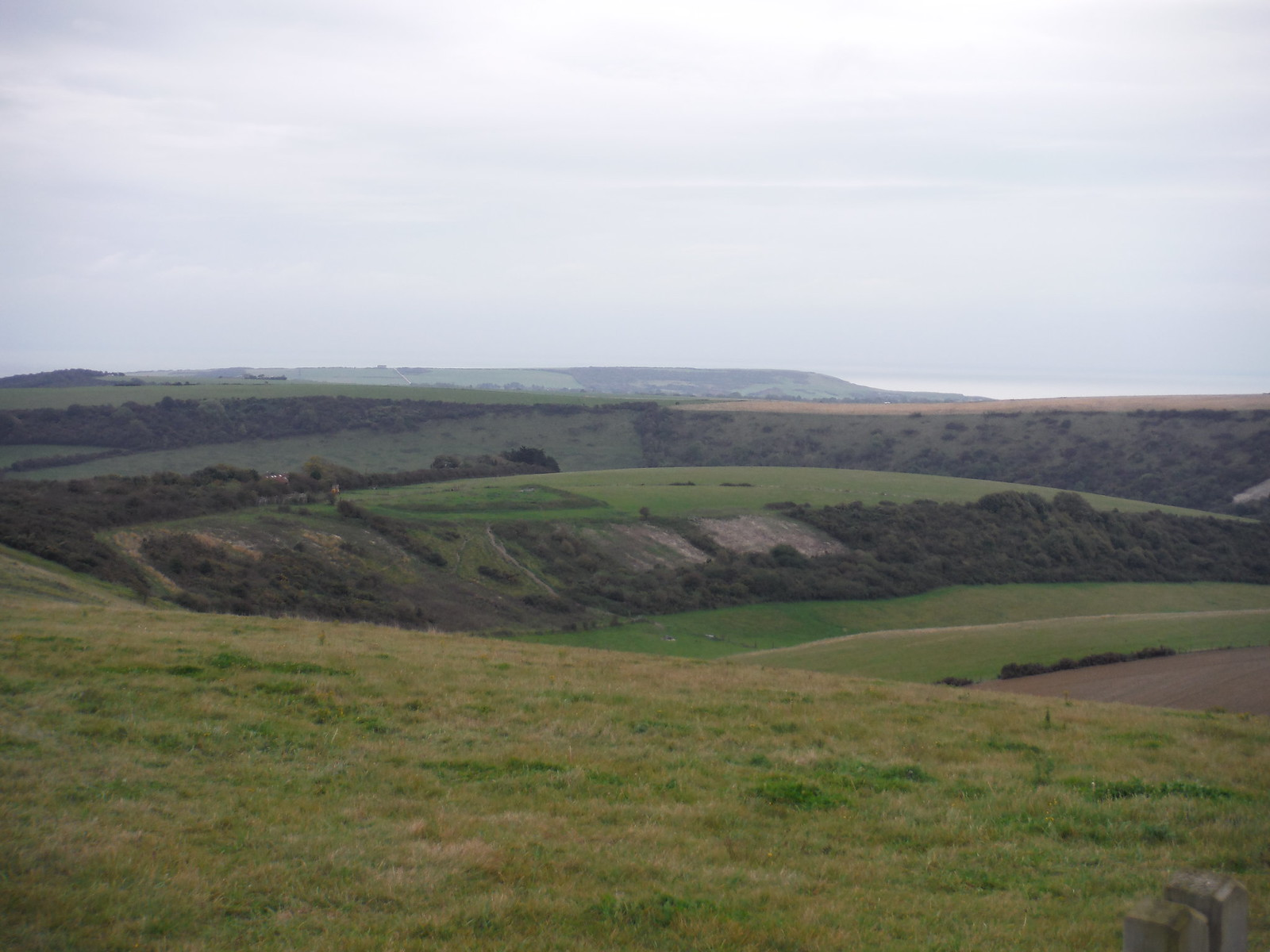 Seven Sisters and Channel, from SDW near Alfriston SWC Walk 25 - South Downs Way 8 : Southease to Eastbourne