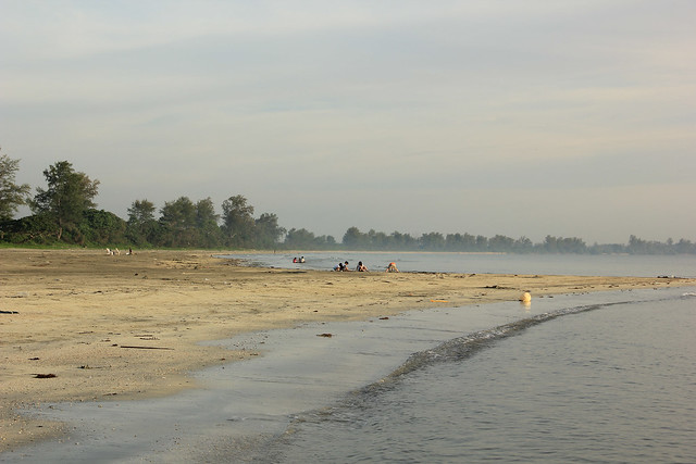local beach in Desaru, Desaru beach