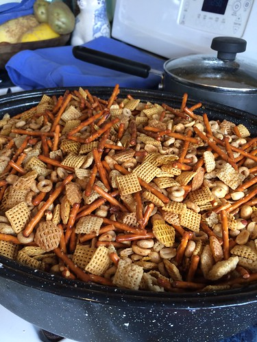 First batch of Chex Mix