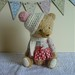 Artist teddy bear 'Beth' by Pamsprettydesigns
