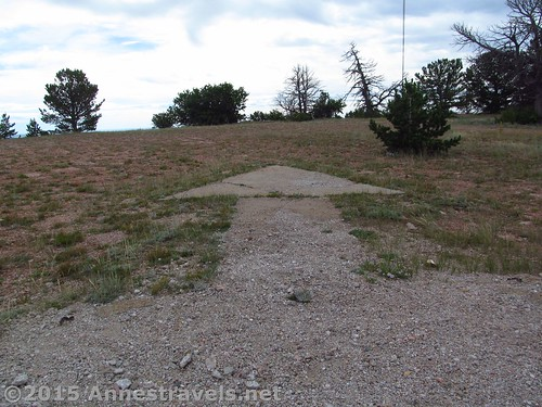 A more accurate representation of the Pilot Hill arrow - it points more or less east. Near the Lincoln Rest Stop, Wyoming