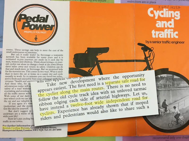 Cycling and Traffic, British Cycling Bureau, 1977