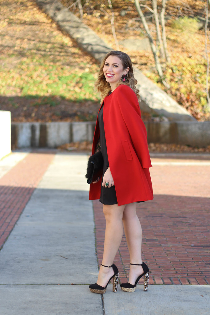 Holiday Glam Outfit | Glitter Platform Shoes