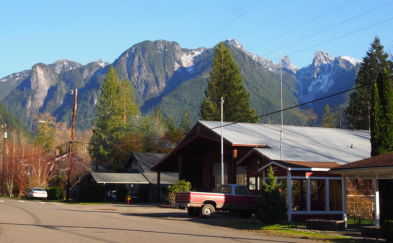 Index Fire Station & Mountains