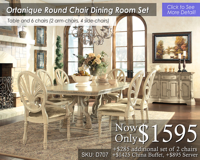 Ortanique Round chair Dining Set