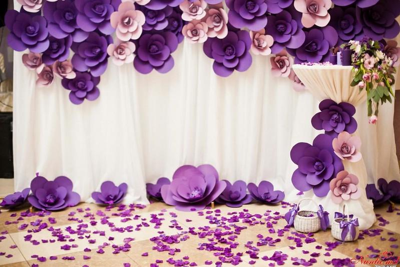 Agenția de organizare a sărbătorilor - «Айлавью» > Nunta în nuanţe violete!