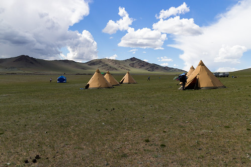Camp at Altai Mountains