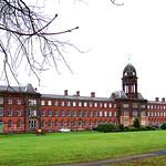 Preston, Lancashire. The Old Sharoe Green Hospital.