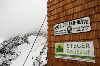 View Up into the Clouds from the Erzherzog Johann Hütte