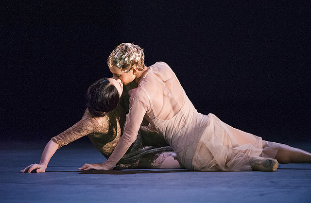 Francesca Hayward and Alessandra Ferri in Wayne McGregor's Woolf Works ©2015 ROH. Photograph by Tristram Kenton