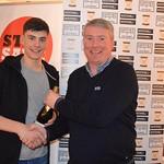 Man of the Match Glenn Murison receives his award from MOM Sponsor Neil Webster