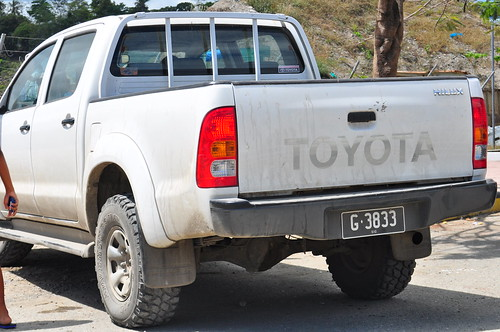 license plate number honiara solomon islands government toyota hilux