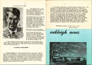 Oakley/Oakleigh Hospital Newsletter, featuring Sir Edmund Hillary (1960)