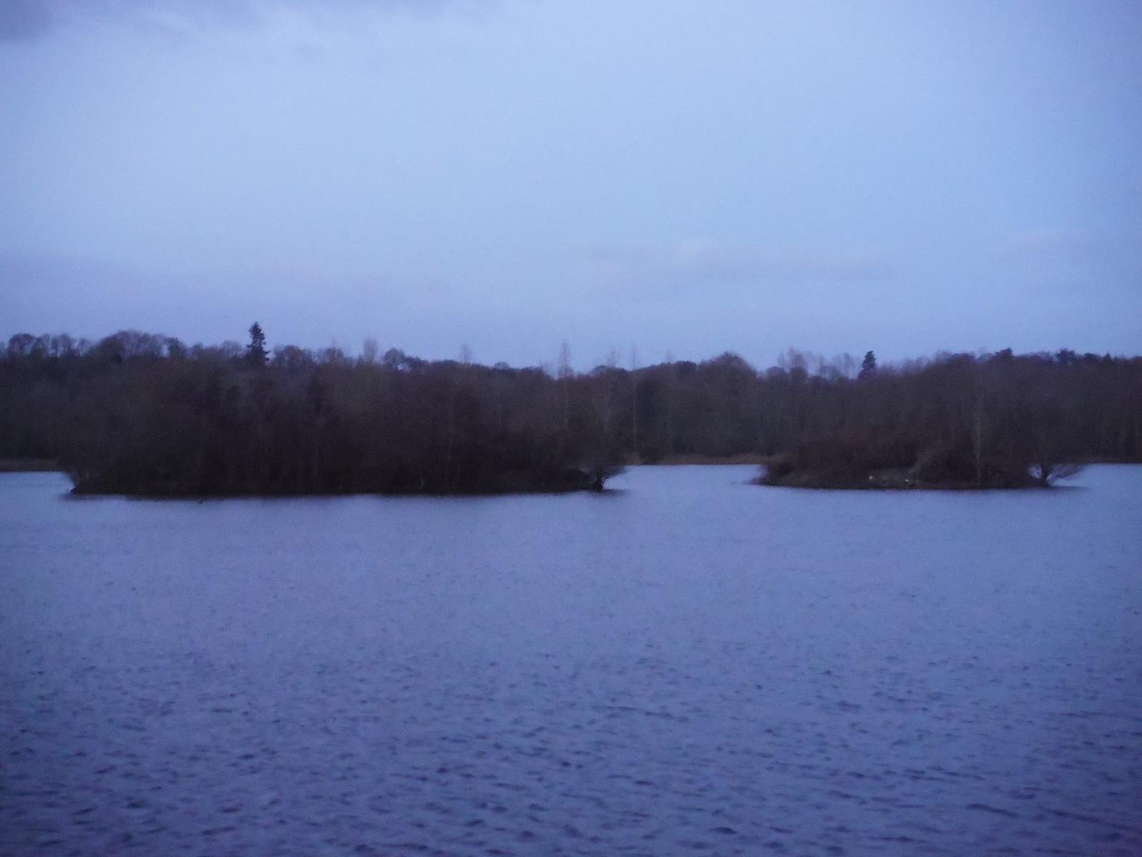 Lake in Woolhampton SWC Walk 34 Newbury Racecourse to Woolhampton (Midgham Station)