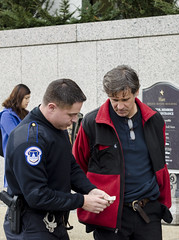 Carmen Trotta Is Arrested for Participating in an Anti-Torture Demonstration Inside the Hart Senate Office Building