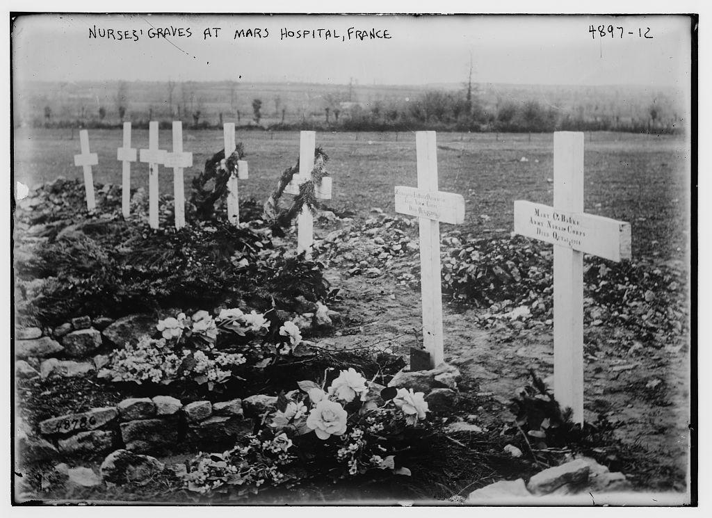 Nurses' graves at Mars Hospital, France (LOC)