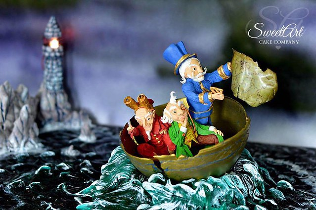 Three Wise Men of Gotham Cake by SweetArt Cake Company in collaboration with Sweet Fairy Tales
