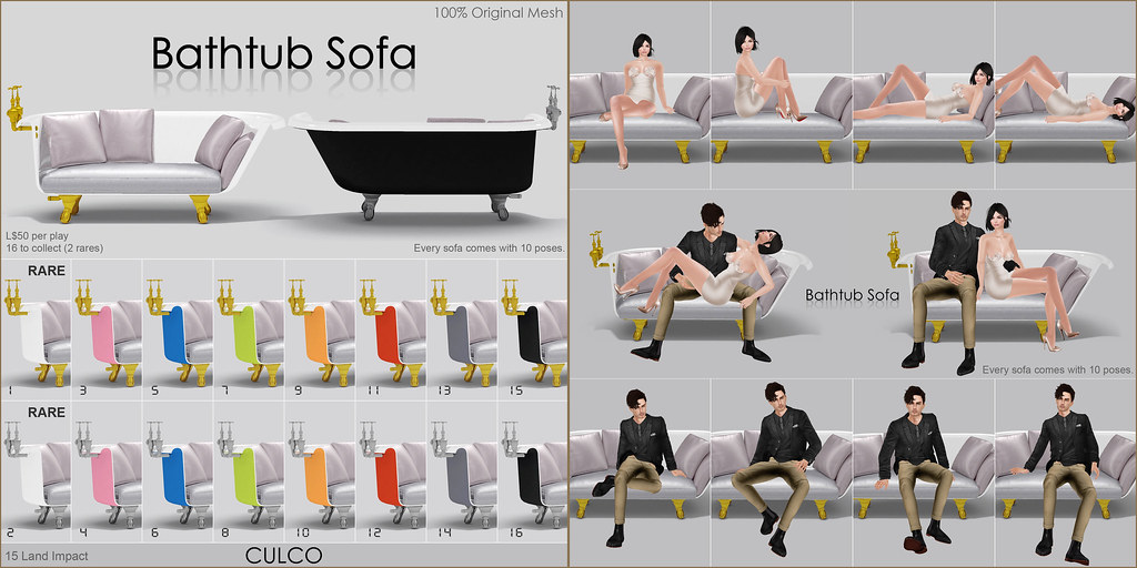 -Culco- Bathtub Sofa Poster