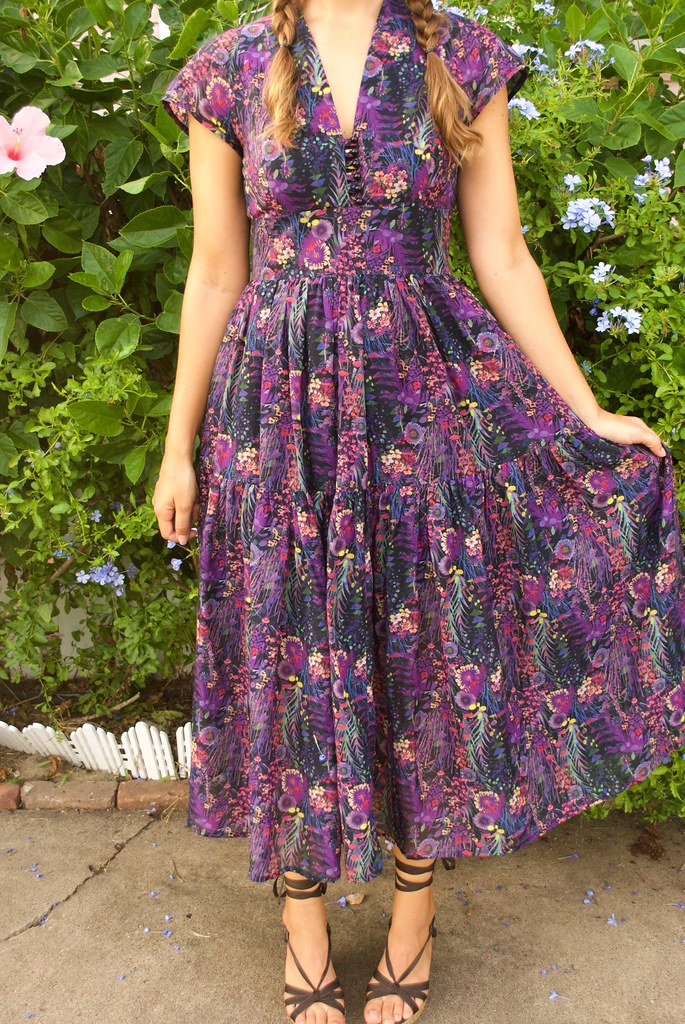 Mood Fabrics Liberty of London Burdastyle Dress