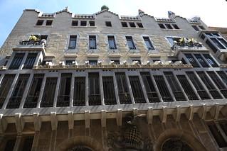 תמונה של פלאו גואל ליד Ciutat Vella. barcelona españa spain espagne barcelone août espanya palaugüell 2015 palaciogüell palaisgüell august2015