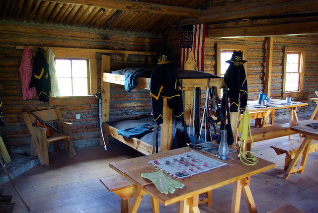 Barracks and Mess Hall, Fort Caspar, Wyoming, July 11, 2010