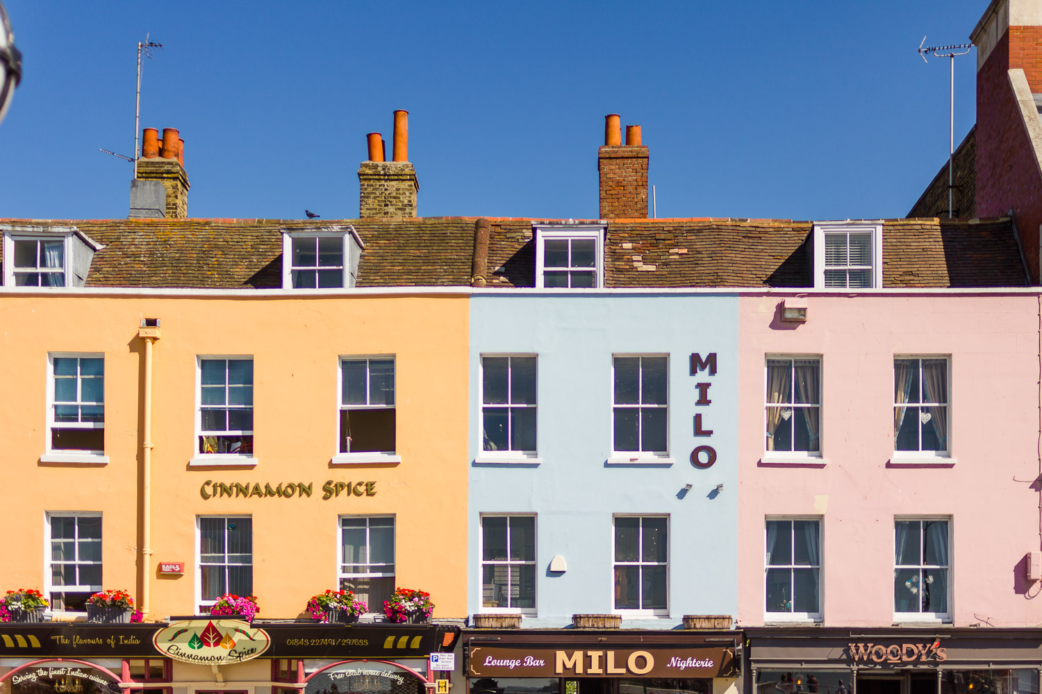 margate colourful houses seafront